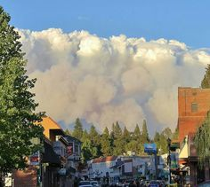 #KingFire -plume if smoke from downtown Placerville/Hwy 50 ~ #Sep152014