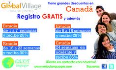 #PromociónDelDía Estudia en Global Village English Centres en cualquiera de sus campus en #Canadá y obtén el registro #GRATIS además grandes promociones. #EstudiaenelExtranjero #EstudiaenCanadá