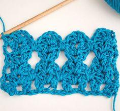 Cómo tejer punto Offset en crochet