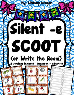 Fun silent -e SCOOT or write the room activity.