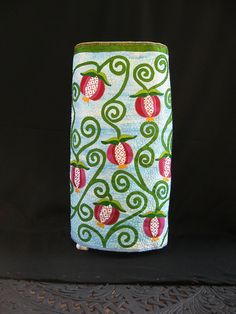 Pomegranate Torah Cover created by Cheryl Lynch