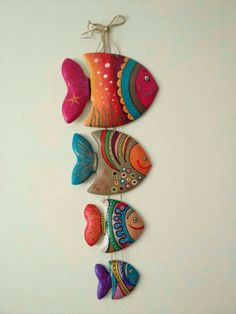 Clay Fish - fun to make for grandma and grandpa Clay Projects, Clay Crafts, Diy And Crafts, Arts And Crafts, Clay Wall Art, Clay Art, Clay Clay, Ceramic Clay, Ceramic Pottery