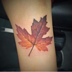 Mapel Leaf Tattoo #fall #hyperrealism