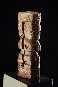 Polynesian Marquesas Islands Carved Wood Fan Handle (Marquesas Islands)