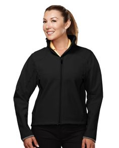Women's Soft Shell Jacket Poly Stretch Bonded   6420 Ascent #Jacket