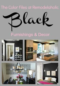 The Color Files at Remodelaholic:  inspiring you to think in color.  Real rooms, decor, and furniture with one thing in common:  BLACK