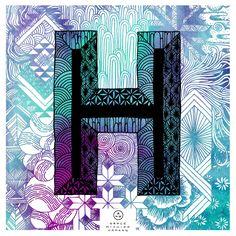 Grace Hamann x ATC Artist Series 1  Letter H inspired by Finkl http://avondaletypeco.tumblr.com/ http://grace-hamann.squarespace.com