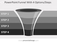 Free editable curved powerpoint funnel diagram with 2 levels free editable 4 level funnel diagram for powerpoint ccuart Gallery
