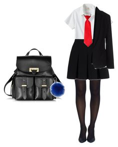 """""""School"""" by ammarah-razvi on Polyvore featuring Tobi, Alexander Wang, Lands' End, Maesta, Aspinal of London and Warehouse"""