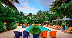 Parrot Key Hotel and Resort, Key West. Don't stay close to the front desk!