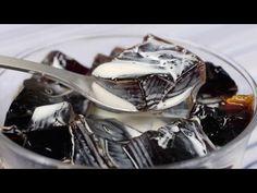 cooking with dog_Coffee Jelly (Coffee Jello Recipe) コーヒーゼリー 作り方レシピ Jello Desserts, Jello Recipes, Dessert Recipes, Dessert Ideas, Coffee Jello, Japanese Treats, Japanese Food, Sweet Recipes, Jelly