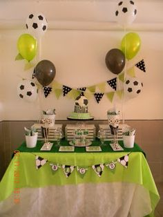 68 Ideas For Cake Pops Decoration Ideas Kids Football Birthday Cake, Soccer Birthday Parties, Soccer Party, 30th Birthday, Soccer Baby Showers, Soccer Theme, Ideas Para Fiestas, Birthday Decorations, Party Themes
