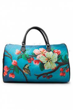 Woody Ellen - 50s retro Weekender Bag Blossom