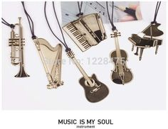 1pcs/lot  New novelty musical instrument designs Metal Bookmark   Gold Book marks #CLICK! #clothing, #shoes, #jewelry, #women, #men, #hats, #watches