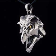 Griffin School Medallion Pendant, Witcher, sterling silver, handmade