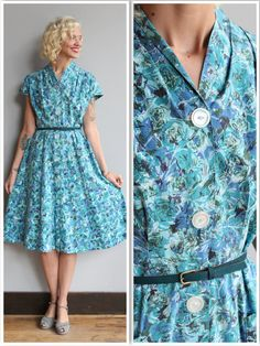 1950s Dress // Northern State Dress // vintage by dethrosevintage