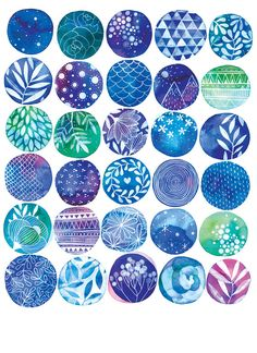 Impresión+de+sueño+azul+8+x+10+por+anavicky+en+Etsy