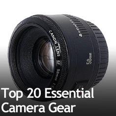 Top 20 Essential Camera Gear » Expert Photography