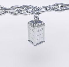 Silver TARDIS Charm