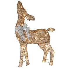 holiday living lighted reindeer outdoor christmas decoration with white incandescent lights - Outdoor Christmas Reindeer Decorations Lighted
