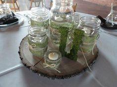 My DIY Centerpiece :  wedding diy reception Mason Jars