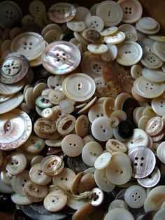 So glad I have all my Mom's buttons. They are a like a little treasure!