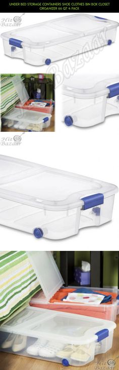 UNDER BED STORAGE Containers Shoe Clothes Bin Box Closet Organizer 66 Qt 4 Pack #plans #storage #products #parts #tech #camera #fpv #shopping #technology #bed #drone #under #racing #kit #gadgets