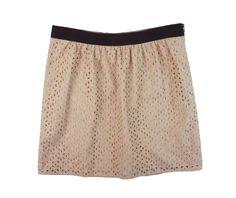 New ANN TAYLOR LOFT Petites Size 6P 6 P Peach Embroidered Cotton Eyelet Skirt #AnnTaylorLOFT #Pleated