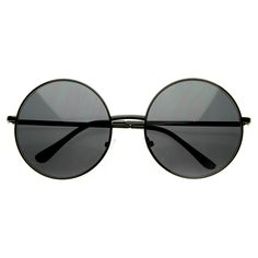 - Description - Measurements - Shipping - Unique boho indie oversize metal circle sunglasses are the largest metal circle frame we have yet to carry! Made with a metal based frame, metal hinges and po