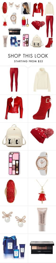 """Sem título #1137"" by amorasilvestre ❤ liked on Polyvore featuring L'Agence, Uniqlo, Gucci, 2 Lips Too, Collection XIIX, Rotary, Ted Baker, Laura Mercier, Acqua di Parma and NARS Cosmetics"