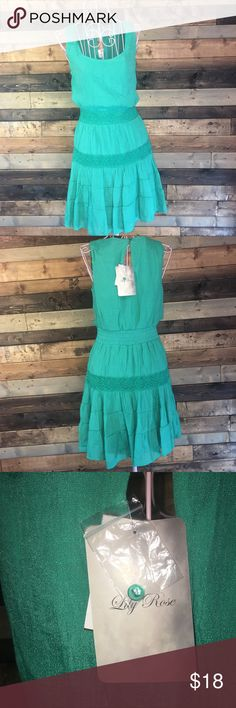 Lily Rose Green Summer Breeze Dress, Size XS, NWT Lily Rose Green Summer Breeze Dress, Size Extra Small, New with Tags Length 85 cm Bust 80 cm Waist 62 cm  Hip 88 cm Lily Rose Dresses