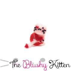 Cupid Kitten Ear cuff, Your Trusty Archer Kitten Ear Cuff, Customised, Felt Kitten EarCuff, Felt Cupid Kitten Ear Cuff, Heart Earring Holder by TheBlushyKitten on Etsy