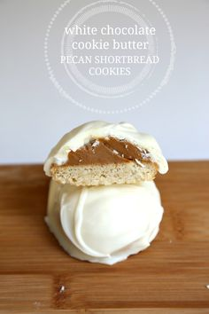 White Chocolate Cookie Butter Pecan Shortbread Cookies | Wallflour ...