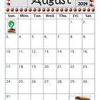 Monthly Editable Calendars