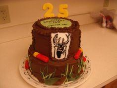 25th Anniversary cake - tootsie roll shells and hand painted buck