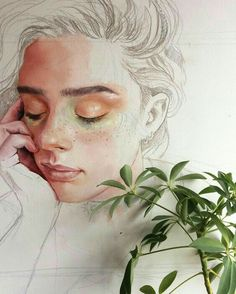by Ruth Speer Kunst Inspo, Art Inspo, Art And Illustration, Watercolor Portraits, Watercolor Art, Ruth Speer, Creation Art, Arte Sketchbook, Wow Art