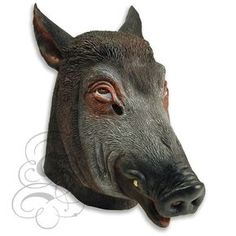 24f97caead Latex Overhead Animal Woodland Wild Boar Dress Up Carnival Prop Party Mask