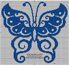 Gallery.ru / Фото #77 - Архив (3) - Olgakam Butterfly Cross Stitch, Butterfly Pattern, Pony Bead Patterns, Loom Patterns, Cross Stitch Charts, Cross Stitch Patterns, Cross Stitching, Cross Stitch Embroidery, Pinterest Cross Stitch