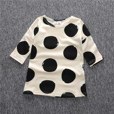 Big polka dot girl's dress - so cute!
