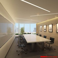 Corporate office - Seminar room  design by Swiss Bureau Interior Design LLC