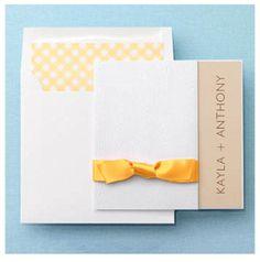 yellow gingham invitation