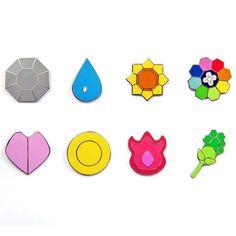 Pokemon Gym Badges: Gen 1 - Kanto League (Small Version, 1 Inch) -- For more information, visit image link. (This is an affiliate link) Pokemon Gym Badges, Pokemon Firered, Pokemon Party, Pokemon Birthday, Pokemon Kanto Gym Leaders, Pokemon Halloween, Pikachu, Rainbow Badge, Badges