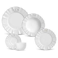 Aparelho de Jantar e Chá Porto Brasil Windsor 335086 Branco - 20 peças - Até 4 Pessoas no Pontofrio.com