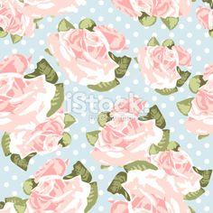 Seamless rose pattern Royalty Free Stock Vector Art Illustration