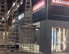 Carrera bereitet sich für die Spielwarenmesse vor - Carrera Spielwarenmesse Aufbau #slotcar #autorennbahn