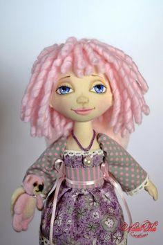 Cloth art doll handmade by NatalKa Creations. Авторская текстильная кукла