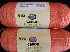 Coral yarn is difficult to find. This is labeled as Persimmon.