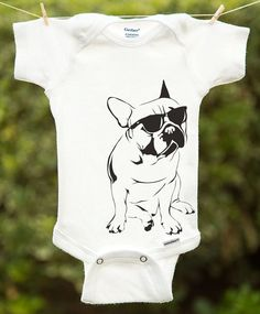 d31071687 French Bulldog Onesie Bull dog Onesie by InspirationxCreation, $19.00 Funny  Baby Gifts, Funny Babies
