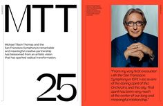 campaign layout Honoring a musical journey with Michael Tilson Thomas. San Francisco Symphony, Conference Branding, Typography Magazine, Editorial Layout, Editorial Design, Silhouette Images, Music Magazines, School Programs, Work Inspiration