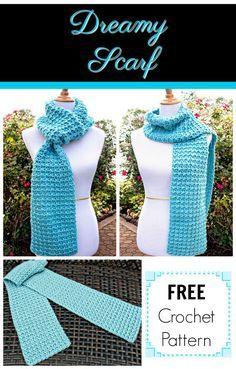Week 3 - Dreamy Scarf by Pattern Paradise Crochet Scarves, Crochet Shawl, Crochet Clothes, Easy Crochet, Free Crochet, Knit Crochet, Crochet Things, Knit Cowl, Crochet Granny